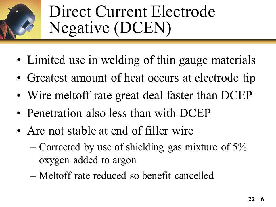 Direct Current Electrode Negative (DCEN)