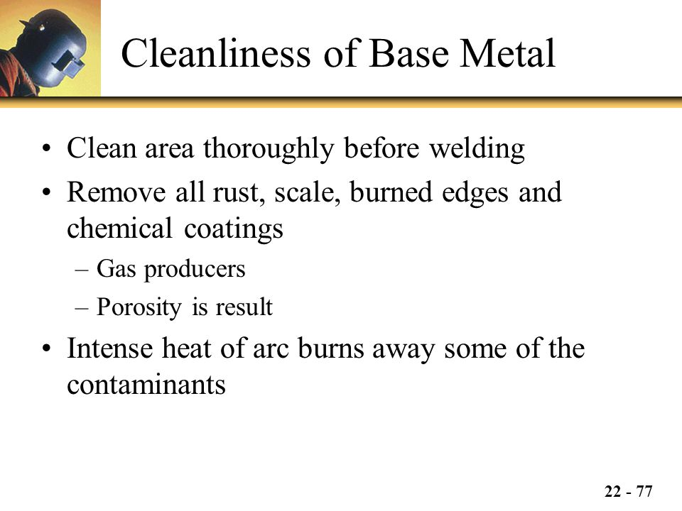 Cleanliness of Base Metal