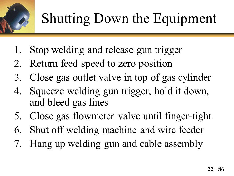 Shutting Down the Equipment