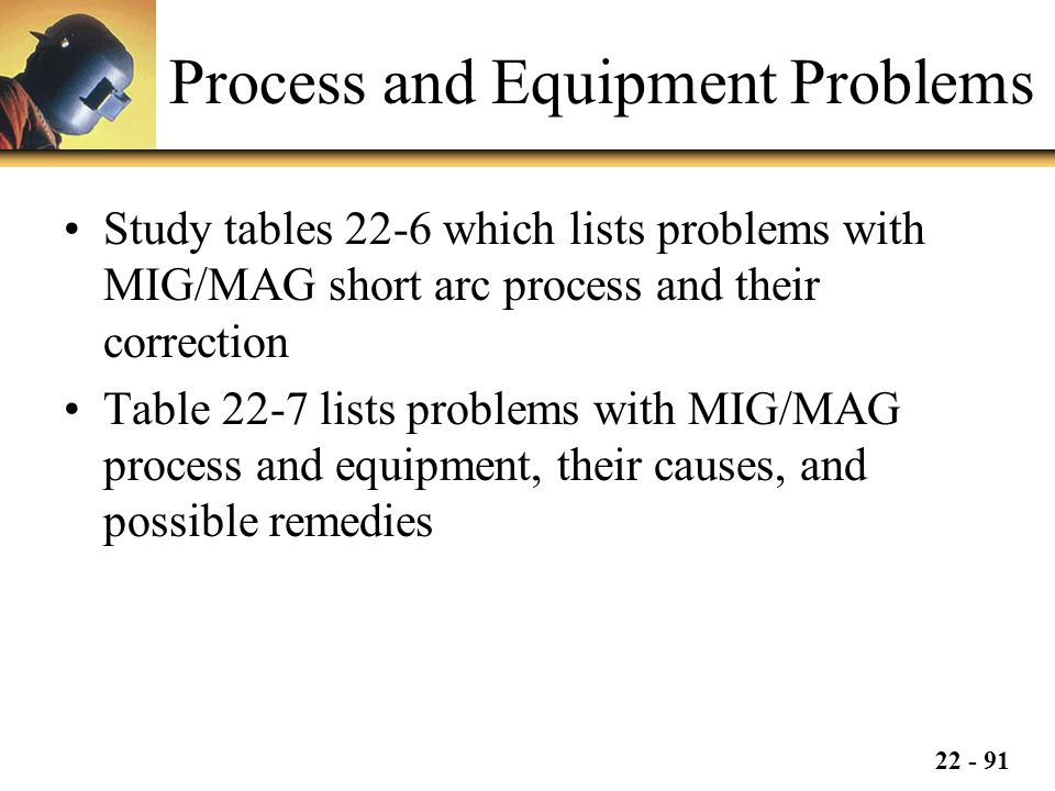 Process and Equipment Problems