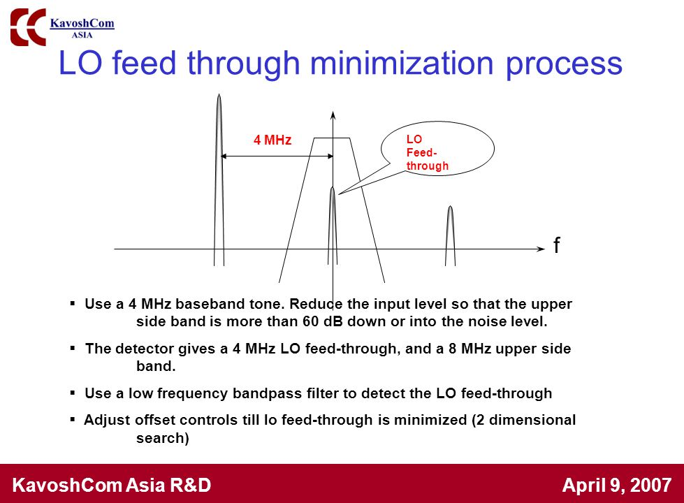 LO feed through minimization process