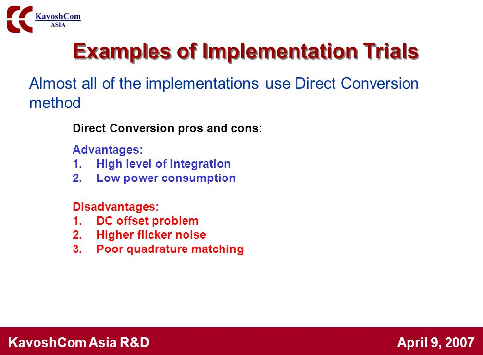 Examples of Implementation Trials