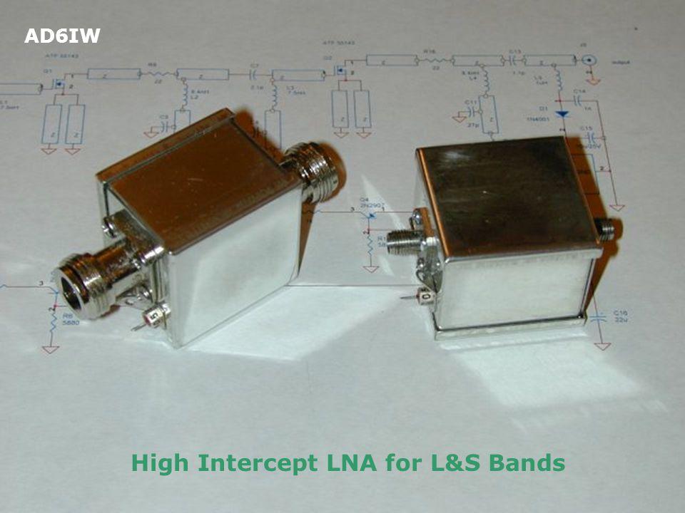 High Intercept LNA for L&S Bands