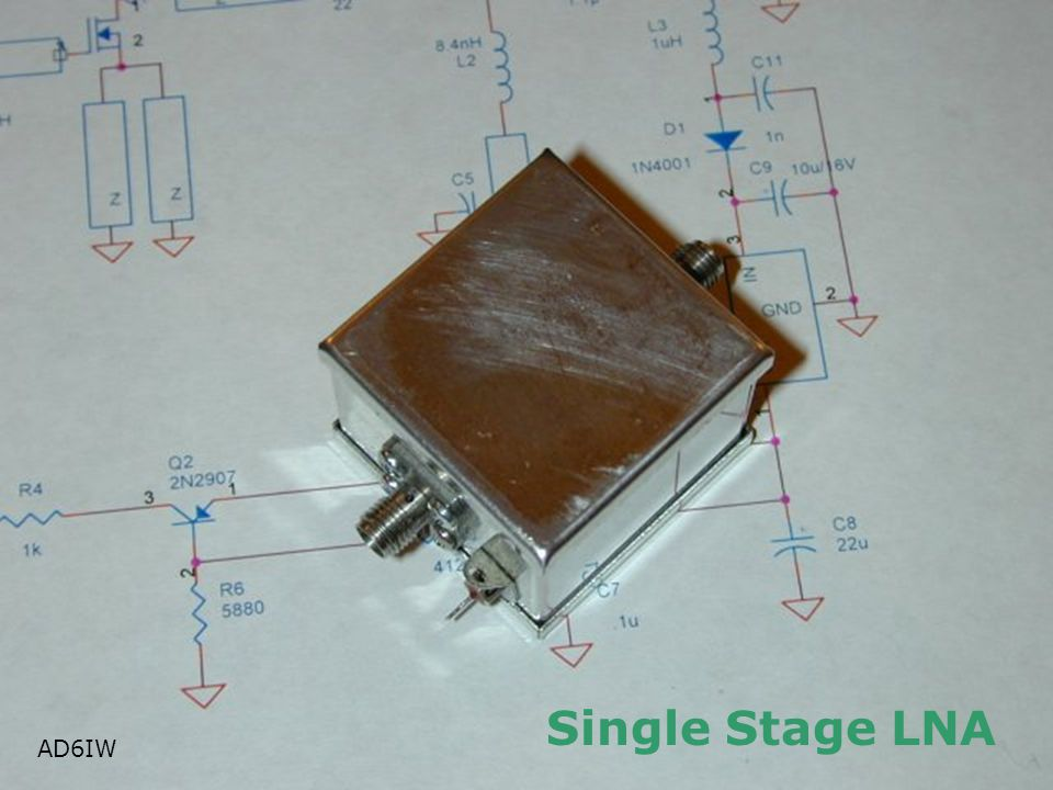 Single Stage LNA AD6IW AD6IW