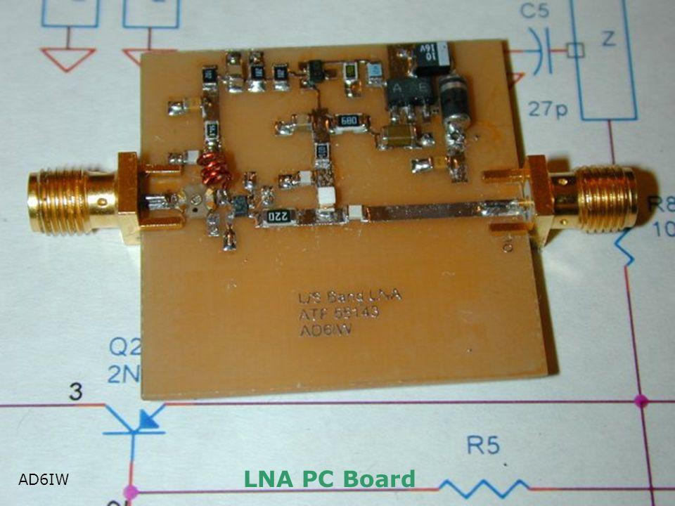 LNA PC Board AD6IW AD6IW
