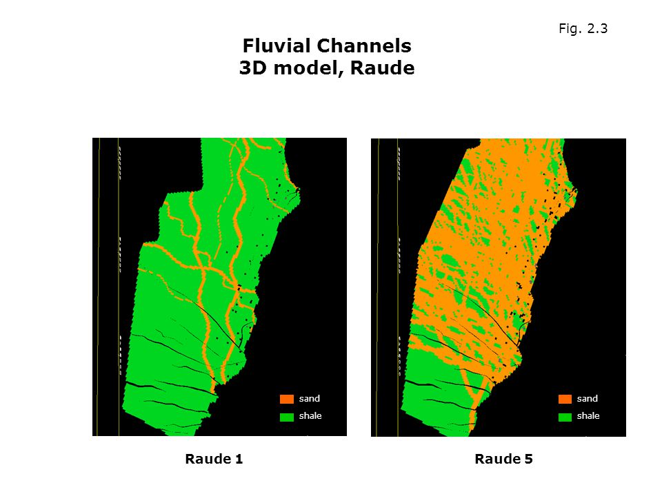 Fluvial Channels 3D model, Raude