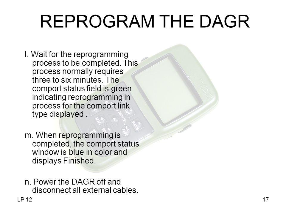 REPROGRAM THE DAGR