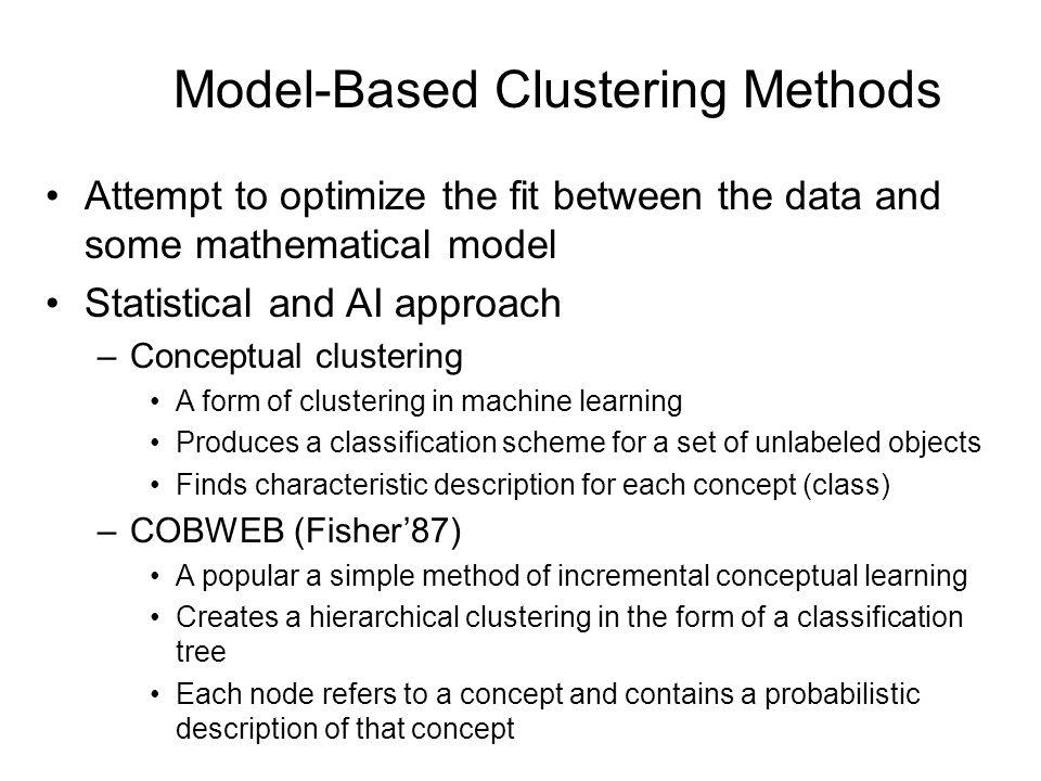 Model-Based Clustering Methods