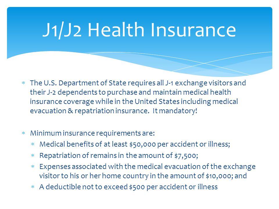 J1/J2 Health Insurance