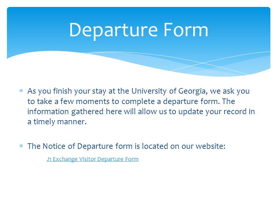 Departure Form