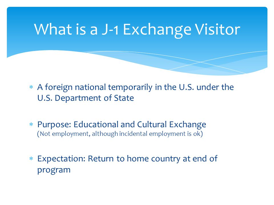 What is a J-1 Exchange Visitor