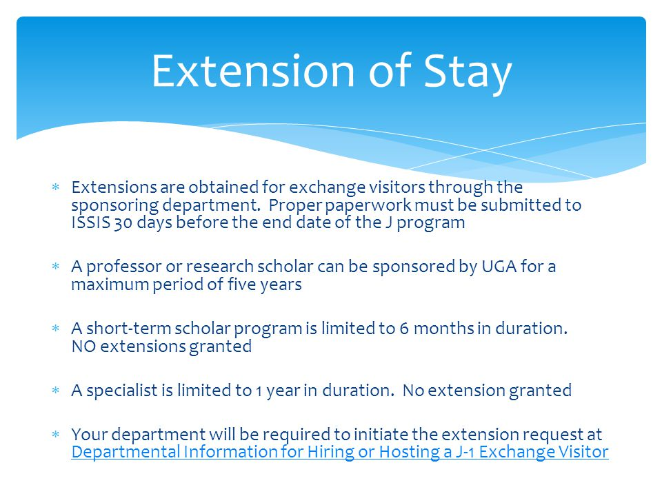 Extension of Stay