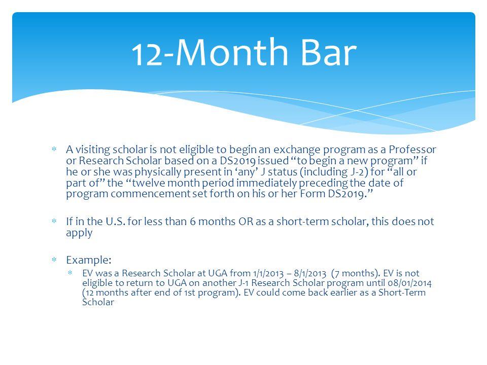 12-Month Bar