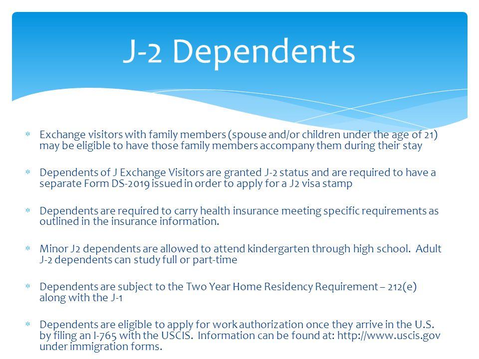 J-2 Dependents