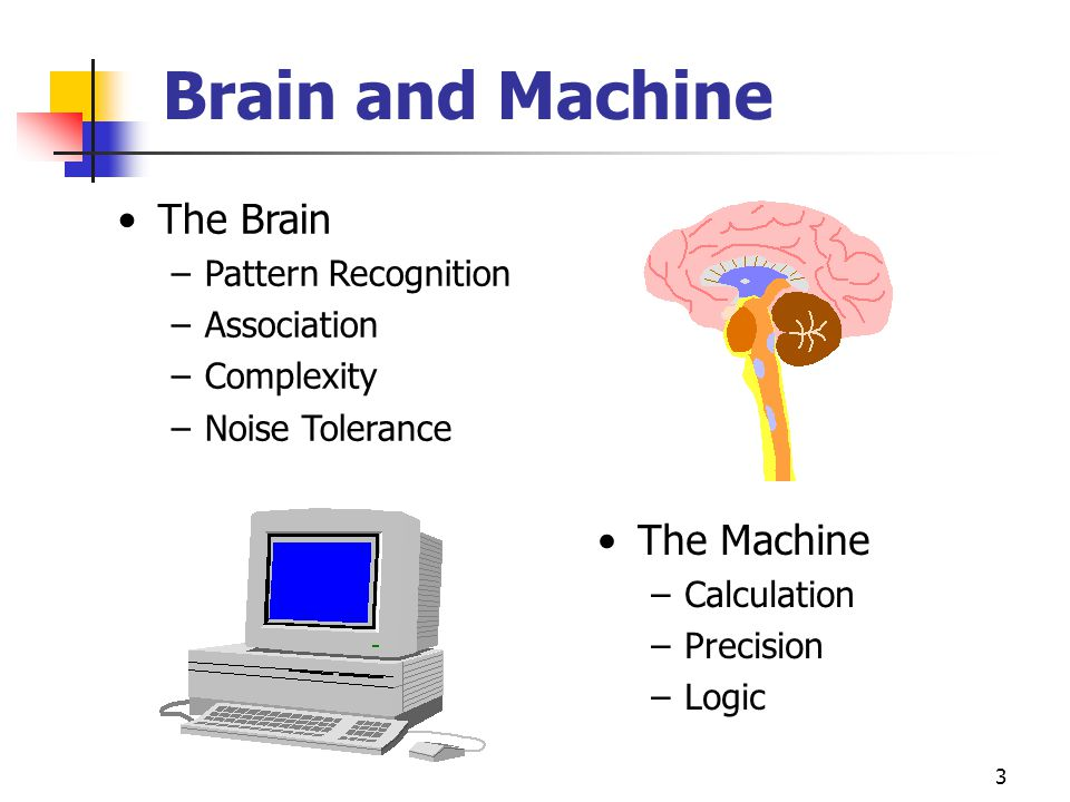 Brain and Machine The Brain The Machine Pattern Recognition