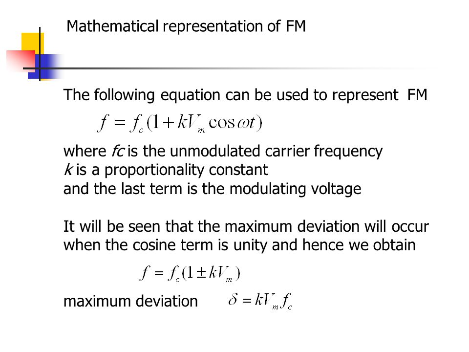 Mathematical representation of FM