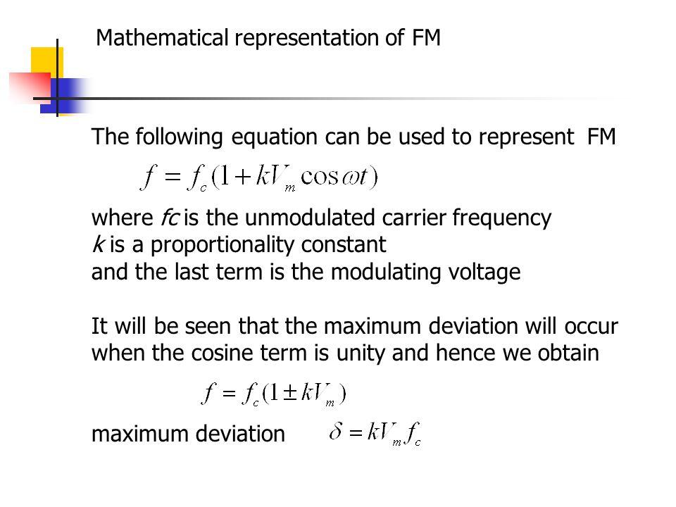 Mathematical representation of FM
