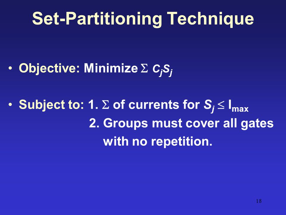 Set-Partitioning Technique