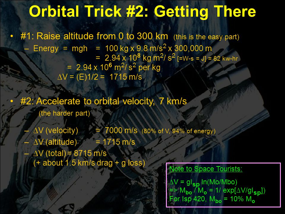 Orbital Trick #2: Getting There