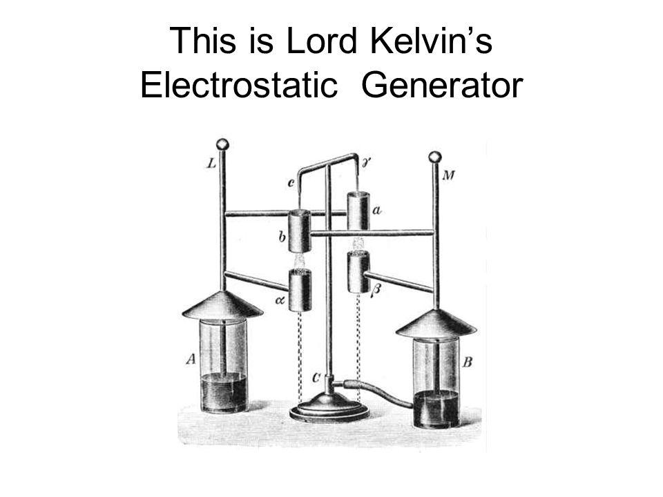This is Lord Kelvin's Electrostatic Generator