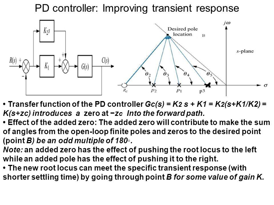 PD controller: Improving transient response