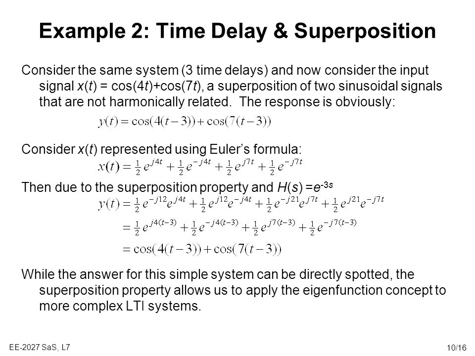 Example 2: Time Delay & Superposition