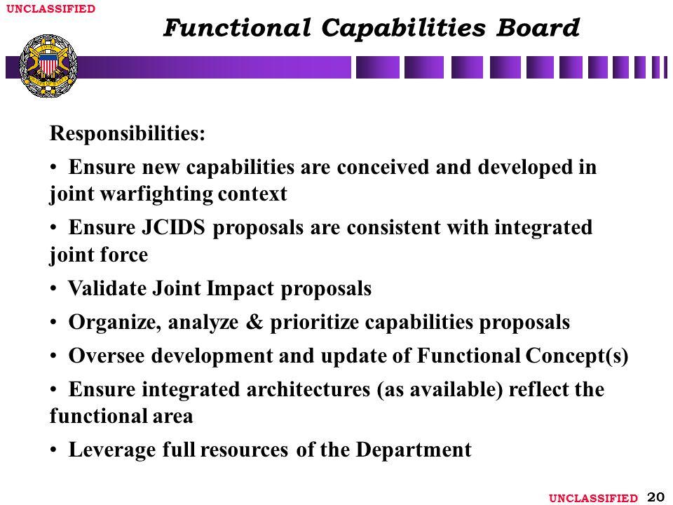 Functional Capabilities Board