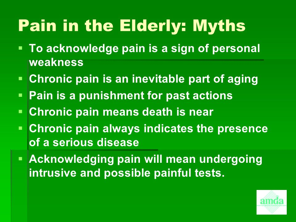 Pain in the Elderly: Myths
