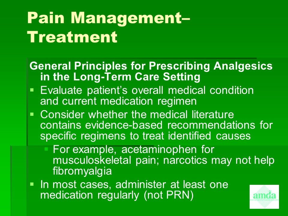 Pain Management– Treatment