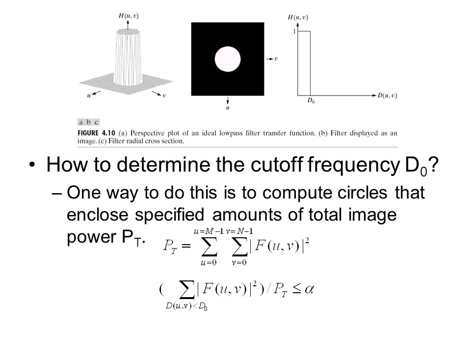 How to determine the cutoff frequency D0