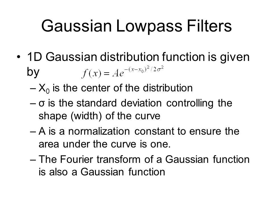 Gaussian Lowpass Filters
