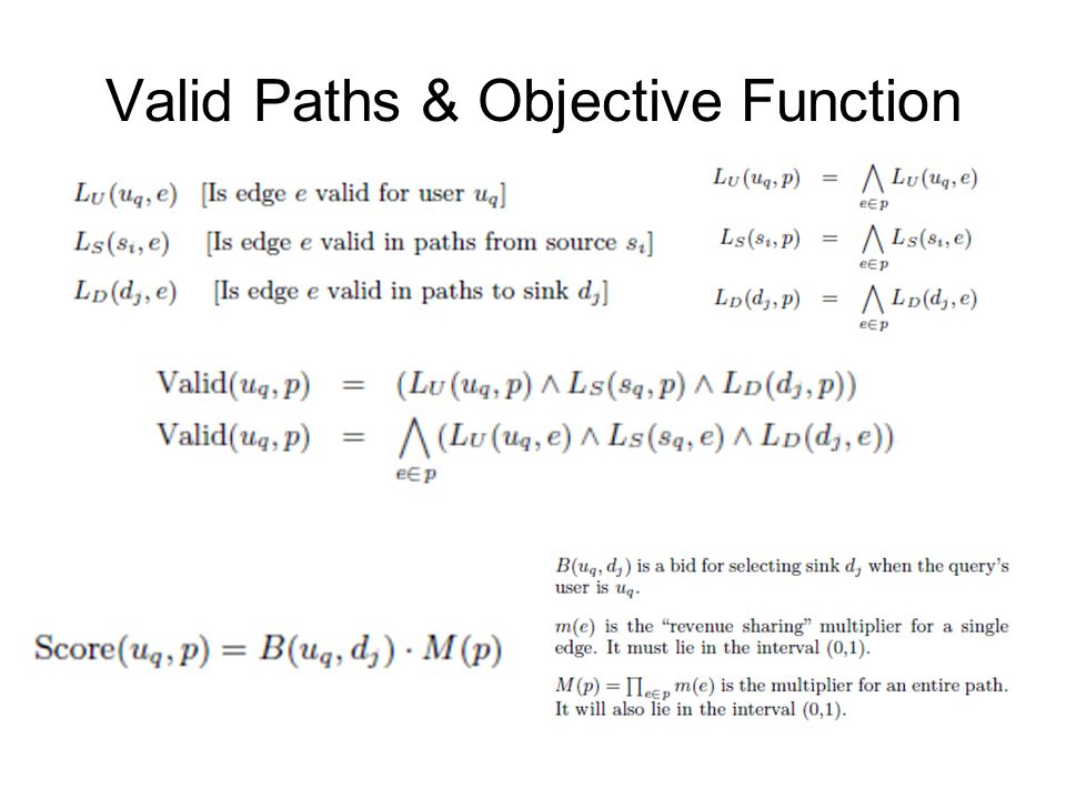 Valid Paths & Objective Function