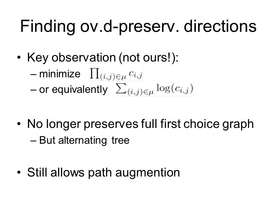 Finding ov.d-preserv. directions