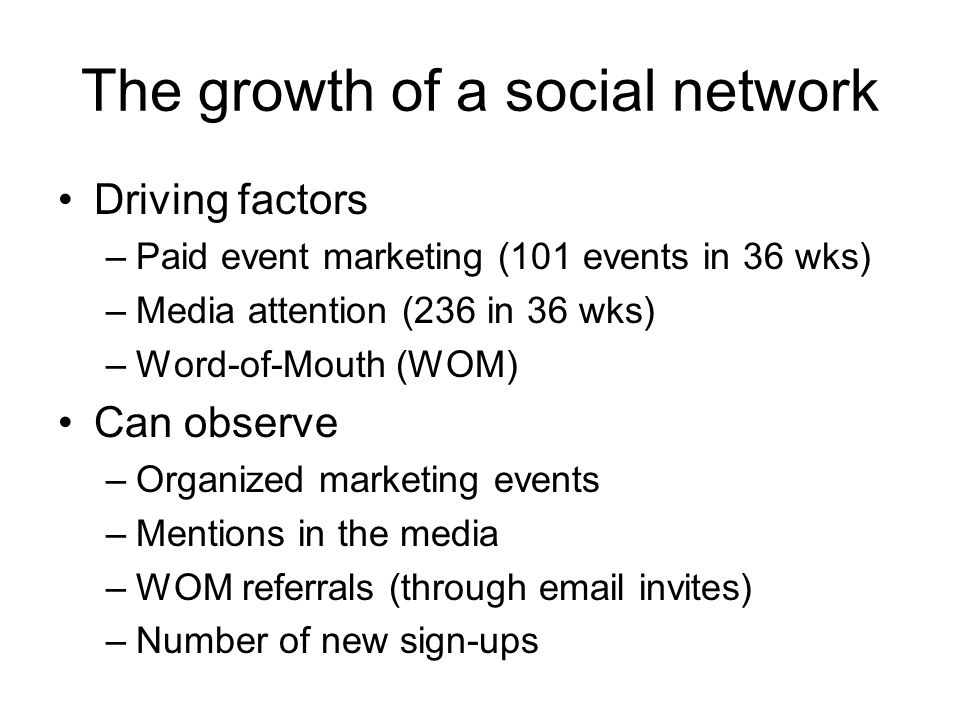 The growth of a social network