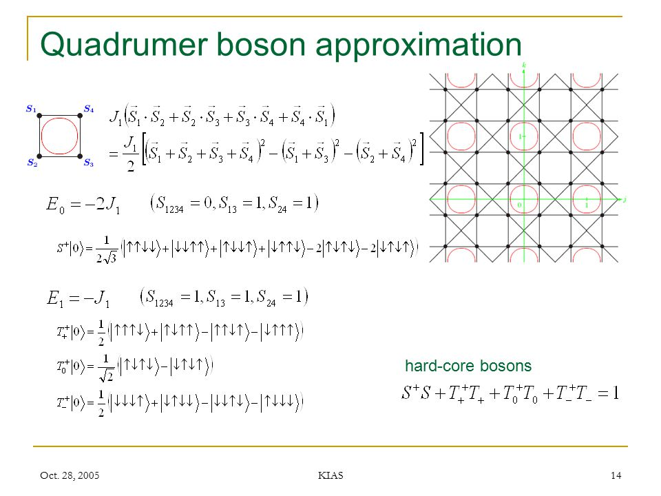 Quadrumer boson approximation