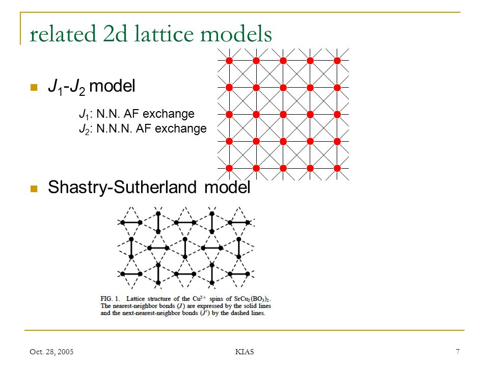 related 2d lattice models