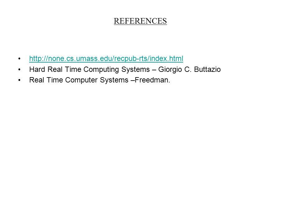 REFERENCES http://none.cs.umass.edu/recpub-rts/index.html