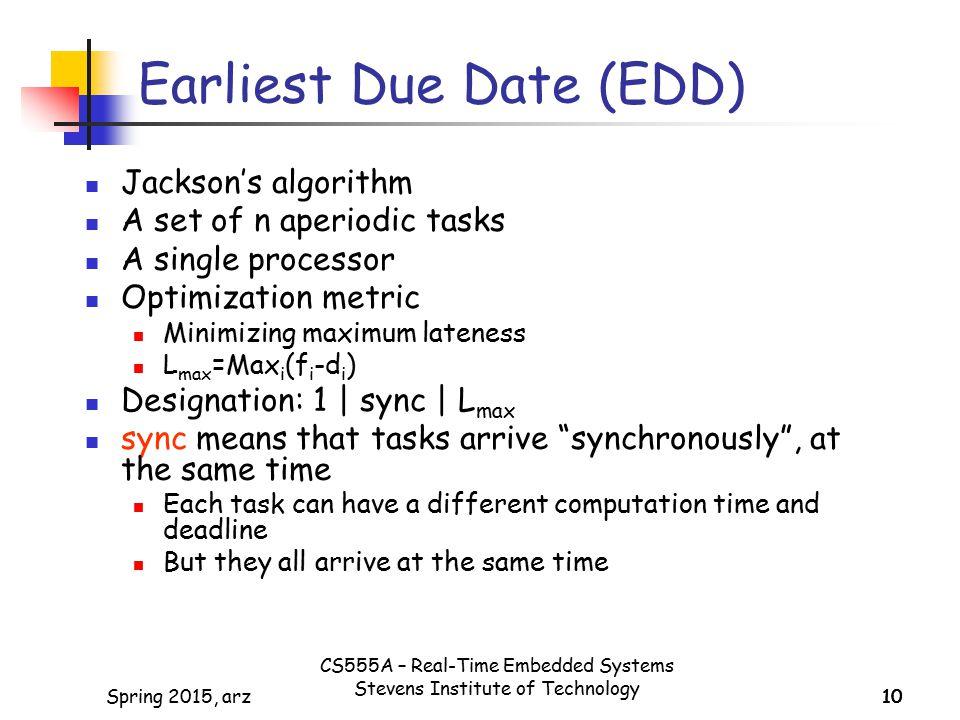Earliest Due Date (EDD)