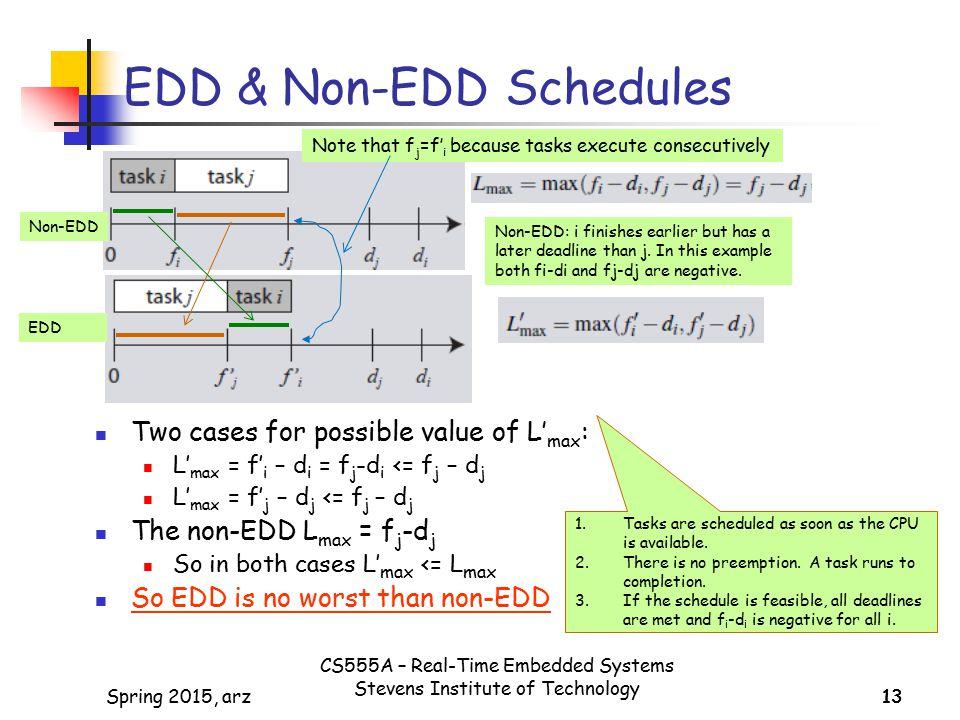 EDD & Non-EDD Schedules