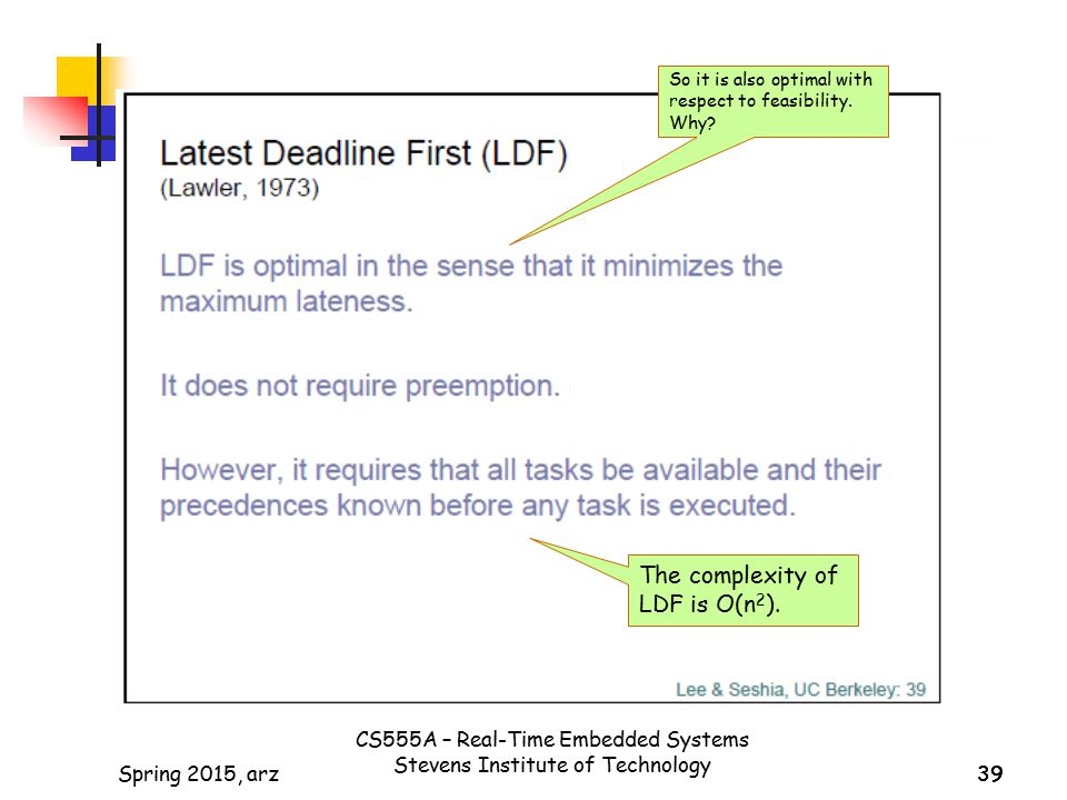 The complexity of LDF is O(n2).