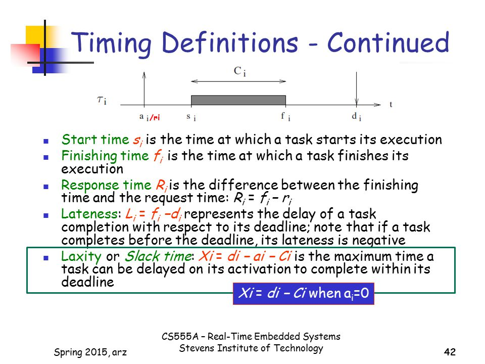 Timing Definitions - Continued