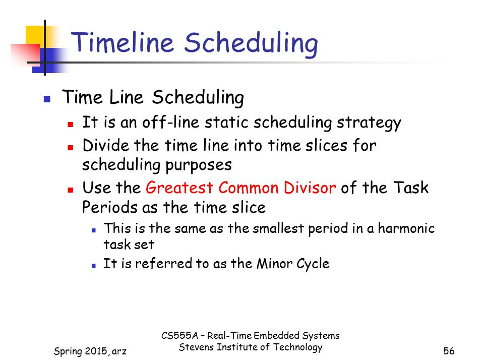 Timeline Scheduling Time Line Scheduling