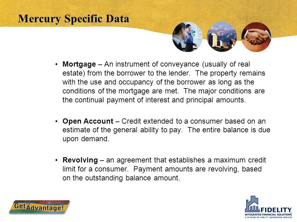 Mercury Specific Data