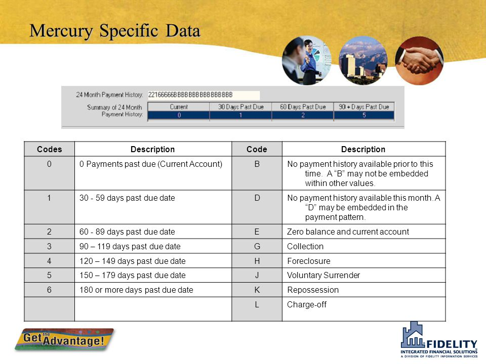 Mercury Specific Data Codes Description Code
