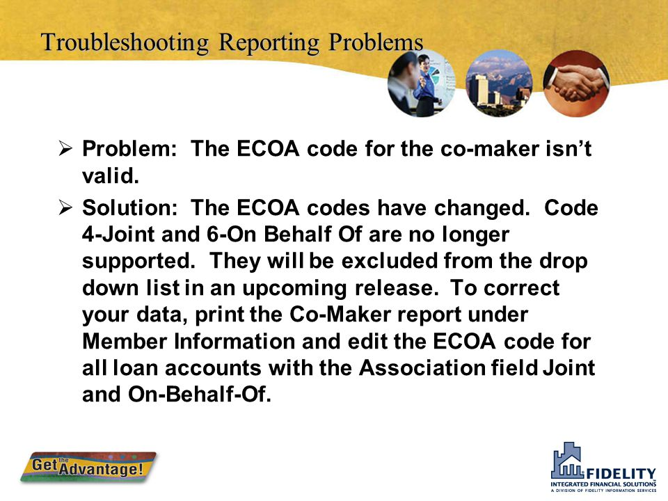 Troubleshooting Reporting Problems