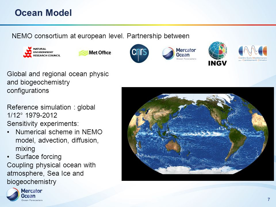 Ocean Model NEMO consortium at european level. Partnership between