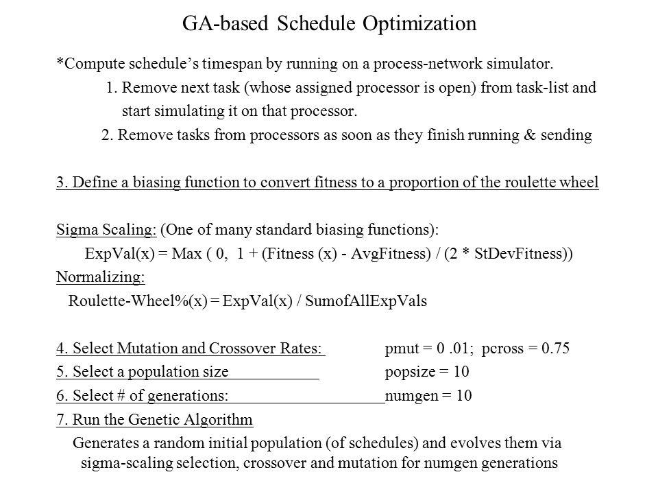 GA-based Schedule Optimization