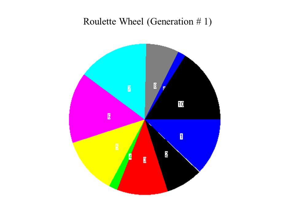 Roulette Wheel (Generation # 1)