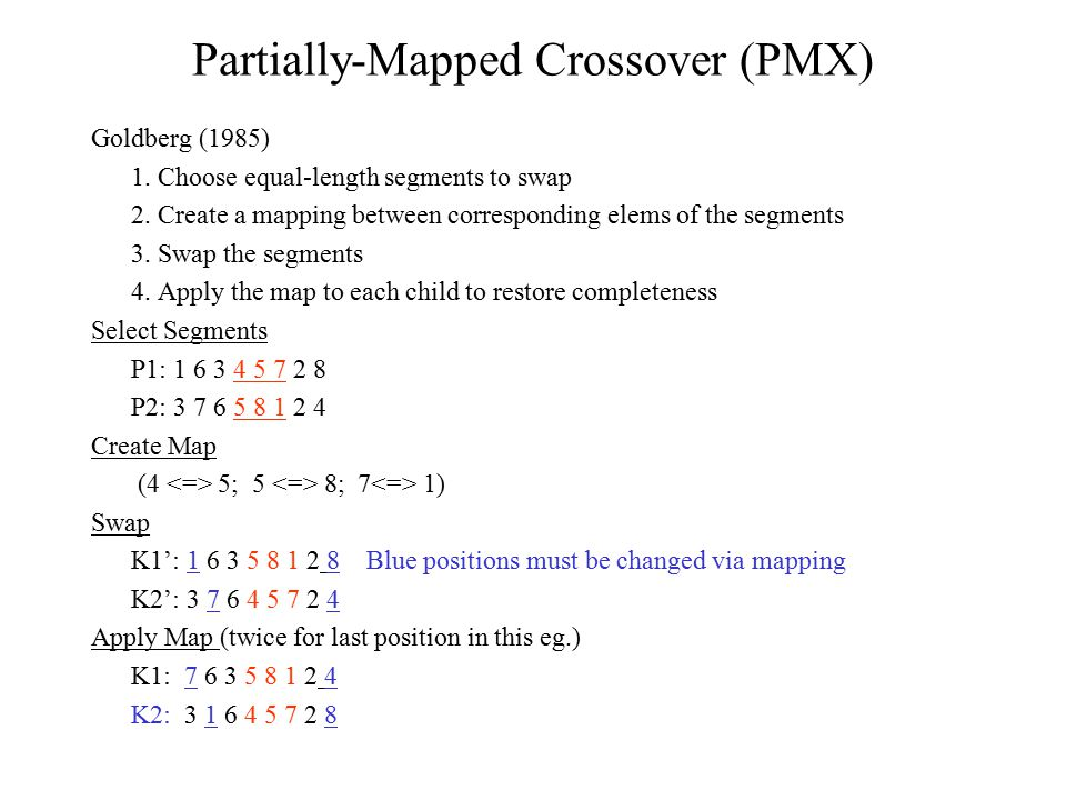 Partially-Mapped Crossover (PMX)