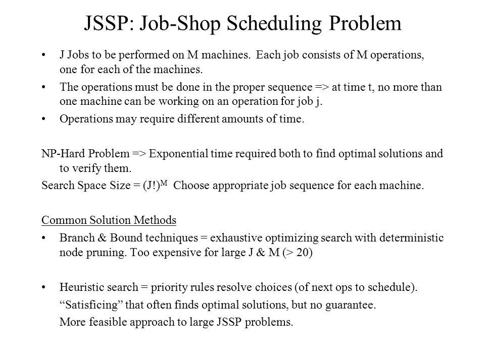 JSSP: Job-Shop Scheduling Problem